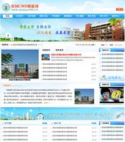 学校模板帝国cms蓝色学校模板学校网站源码程序