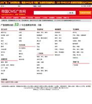分类信息源码分类信息程序帝国cms地方分类信息模板红色简约性