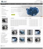 帝国cms通用灰白色外贸英文企业网站